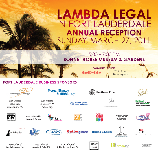 Lambda Legal in Fort Lauderdale 2011 Invite